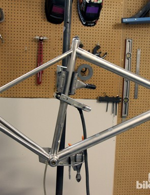We shadowed Mosaic Bespoke Bicycles founder Aaron Barcheck as he welded together this titanium road bike