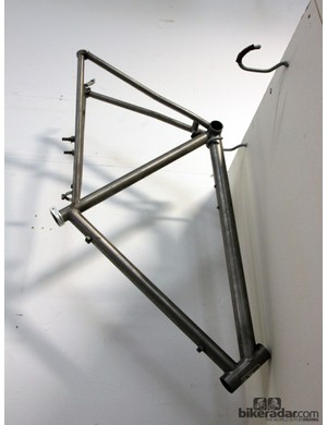 Aaron Barcheck welded his first titanium frame while a student at United Bicycle Institute unde the tutelage of framebuilding legends Mike DeSalvo and Jim Kish