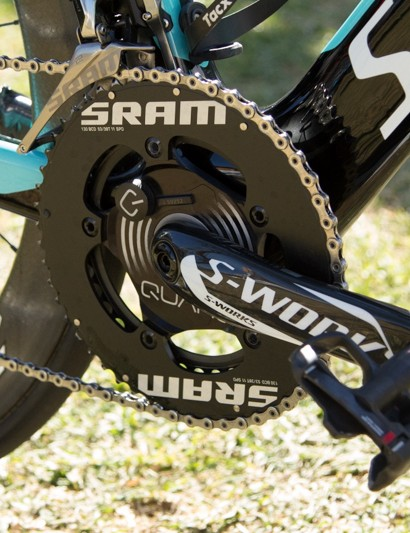Specialized provide the crank arms, while the power meter and chainrings are both from SRAM