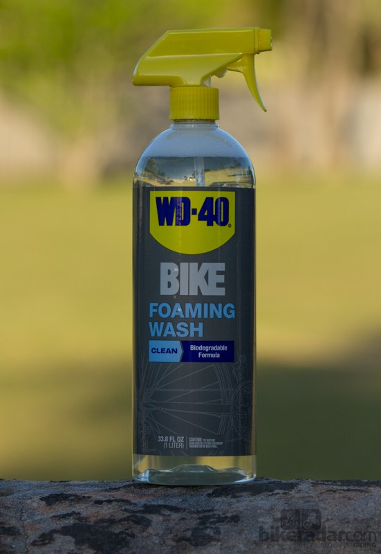 WD-40 Bike Foaming Wash - clear and biodegradable