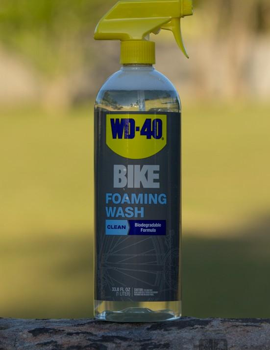 WD-40 Bike Foaming Wash - clear and biodegradable