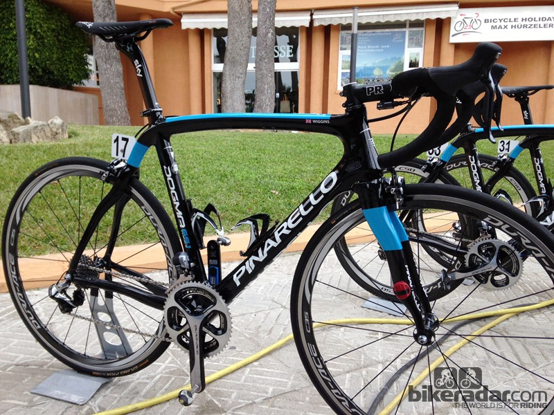 Bradley Wiggins (Team Sky) will finish out his road career on this Pinarello Dogma 65.1 Think2