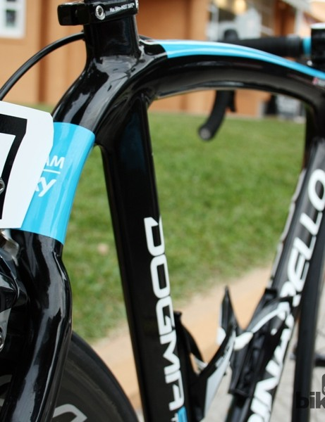 Team Sky bikes get a bit more blue this year