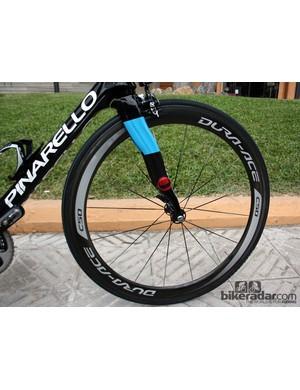 Team Sky uses Shimano Dura-Ace carbon tubulars for racing