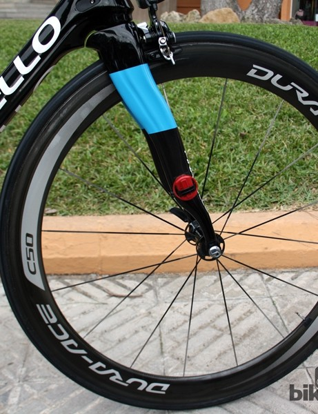 Team Sky uses Shimano Dura-Ace carbon tubulars for racing