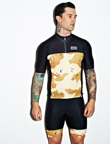 Fiasco Ciclismo's Desert Storm kit was inspired by the camouflage used in the Gulf War