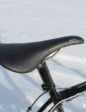 Speaking of saddle swaps, we opted to use the new Bontrager Serano SL instead of the narrower Team Issue that came with the test bike