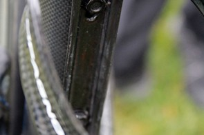 Once the Campagnolo Version 2 battery is installed, users will have to use nuts to secure a bottle cage
