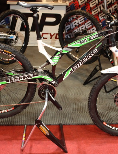 Empire were also proudly displaying their new 150mm enduro bike, the MX6-Evo, despite being made in the UK this complete build retails for just £2,499