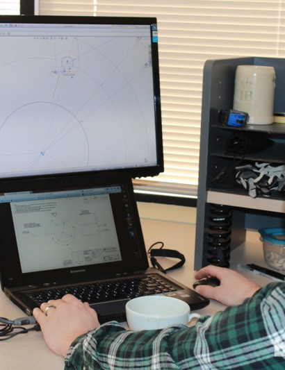 Engineer Andy Emanuel from Maverick works on upcoming Spot designs