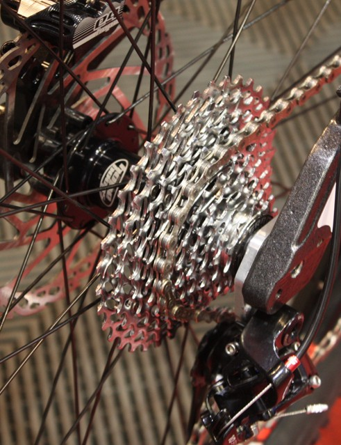 The dropouts are adaptable to allow for either a 135mm or 142mm rear hub