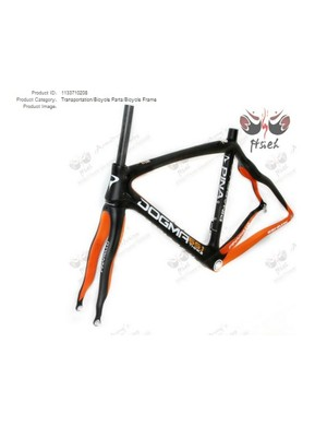 How the fake Pinarello products look on web listings
