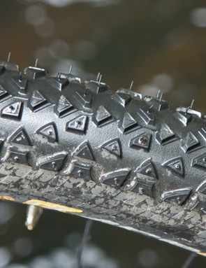 The shallow tread does a great job of clearing mud, but just beware that this tyre is still best suited to dry conditions