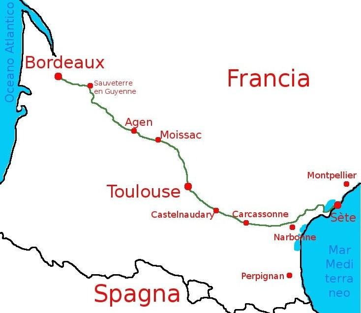 La ciclovia dei due mari, in Ferancia, dall'Atlantico al Mediterraneo. In bicicletta