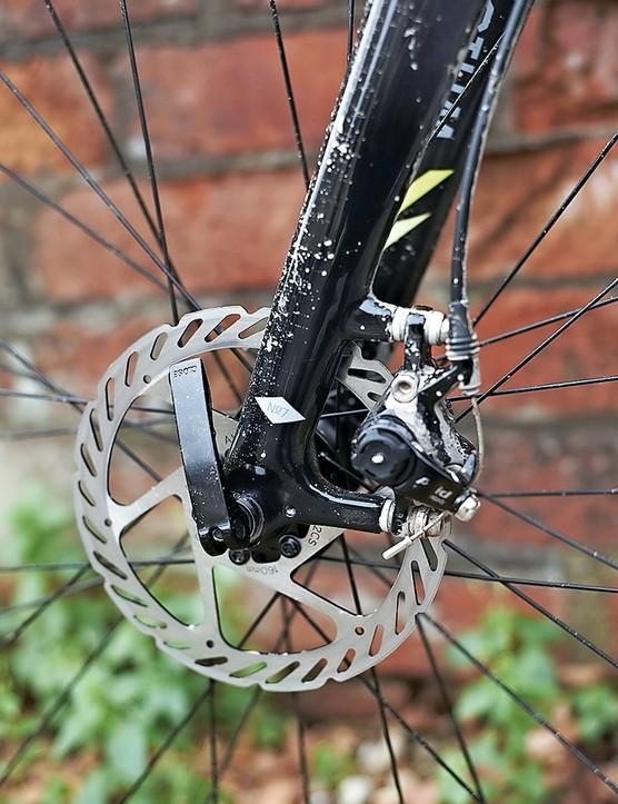 The Avid disc brakes offer power and feel