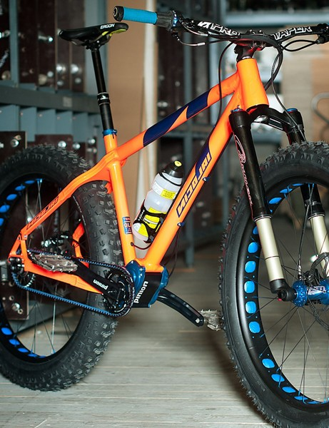 German bicycle manufacturer Nicolai has unveiled the world's first fat bike equipped with a gearbox