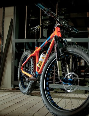 The snowy and sandy conditions in which fat bikes excel can also wreak havoc on external drivetrains. Nicolai's new Argon Fat Pinion looks to be as weatherproof a bike as is possible