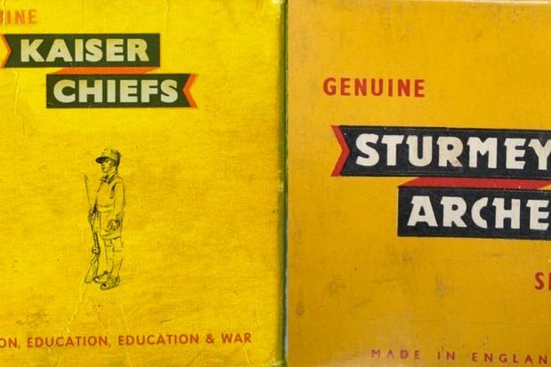 Kaiser Chiefs artwork and the Sturmey Archer spares box