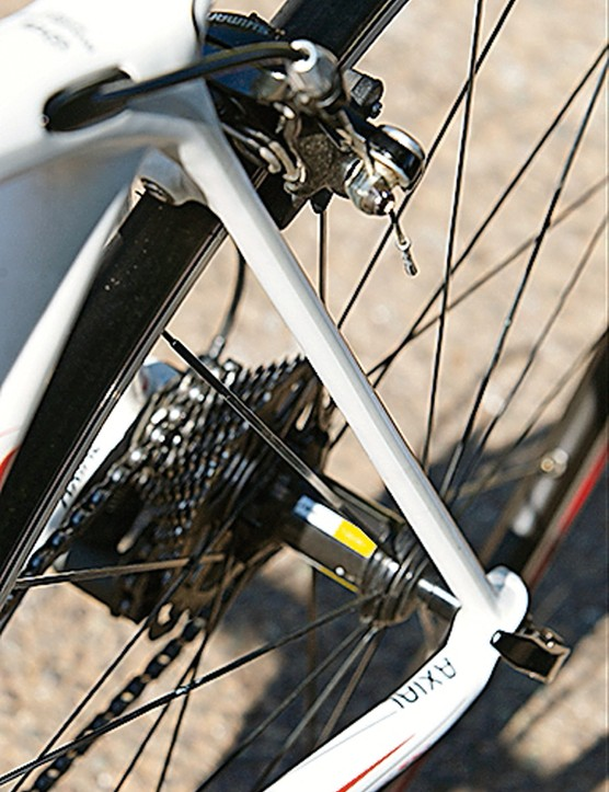 Thin seatstays contribute to the comfortable rear end