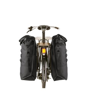 These 20-liter waterproof panniers are designed to be mounted to a traditional rear rack via Chrome's proprietary slotted mounting system