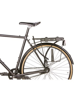 Chrome's proprietary slotted mounting system bolts onto existing racks and is included with each pannier