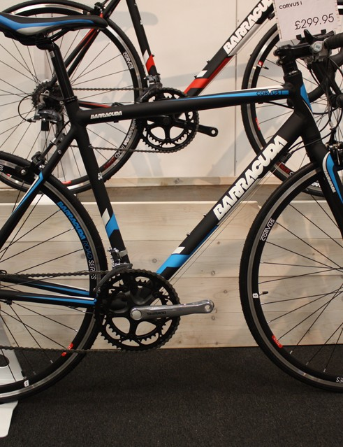 The Barracuda Corvus I is one of the cheapest ways to get yourself a road bike – it costs just £299.99