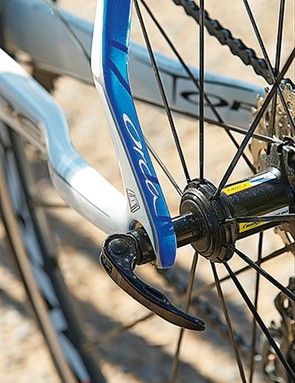 The shaped seatstays and chainstays are designed to add comfort to the rear end