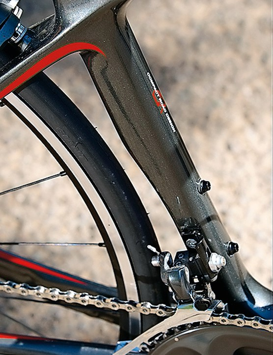 Aerodynamics have clearly been considered in the design of the frame