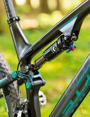 The Fox Float Factory CTD shock offers up 100mm of travel