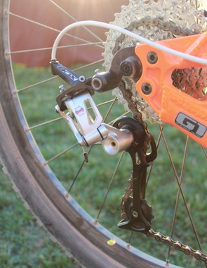 The Box MTB shifters and derailleur are shooting for