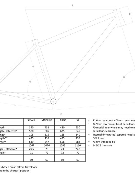 Domahidy Designs proposed frame geometry