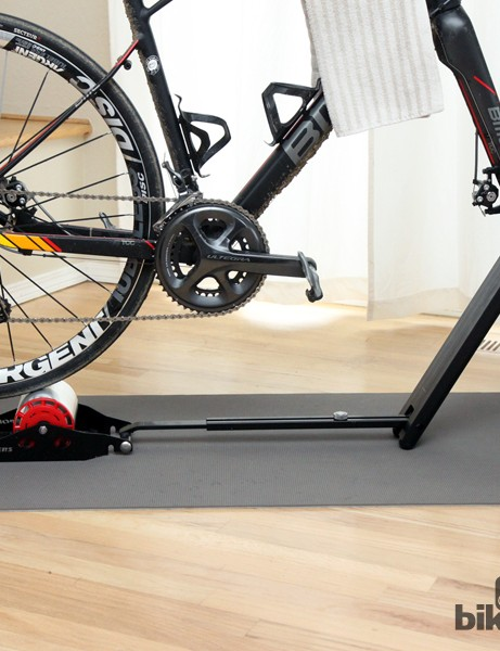 The SportCrafters Omnium doesn't look like most stationary trainers but then again, it doesn't take up nearly as much space as one, either