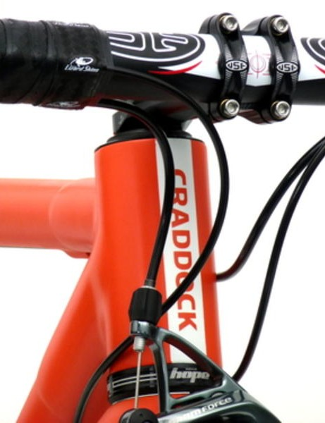 Craddock Cycles' racy carbon road frame probably won't be Johnson's choice