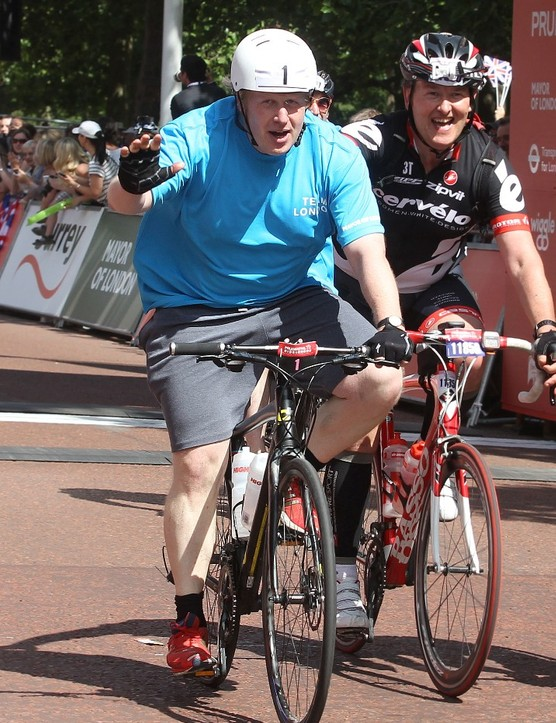 Boris Johnson completed the Prudential RideLondon-Surrey 100 last year