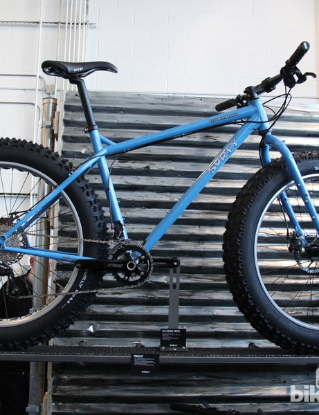 The Ice Cream Truck is Surly's third fat bike model, the first with a symmetrical rear end