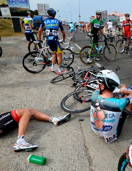 Crashes are a frequent occurrence in the pro peloton