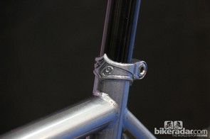 All-City's bikes feature artful touches such as this cast seatpost clamp