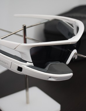 The prototype glasses contain several onboard sensors to provide speed, elevation and GPS data, they're also ANT+ compatible and can connect to smartphones using bluetooth