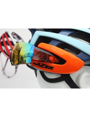 The Z1 is also compatible with Lazer's Magneto M1 magnetic sunglasses