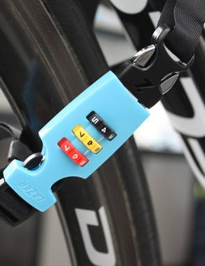 Lazer's Cappuccino lock provides a secure way to store your lid - it's compatible with Lazer buckles only, though