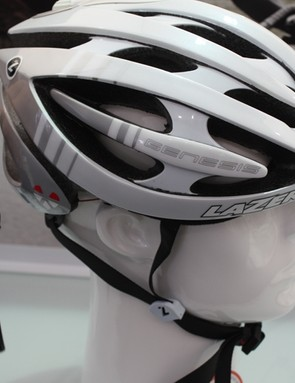 The Lazer Genesis LifeBEAM integrates a sensor that monitors a riders heartbeat, it's also ANT+ and bluetooth compatible