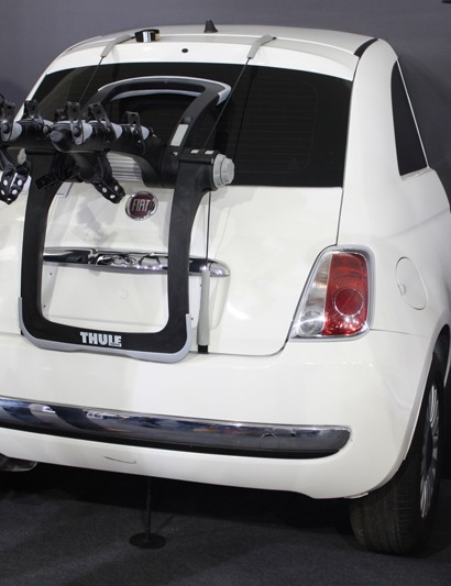 Thule harmed a Fiat 500 in order to display its latest rack