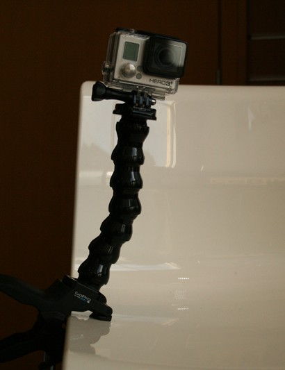 GoPro's ever expanding range of action camera accessories now includes this chunky bulldog clip and flexible gooseneck mount. Dubbed Jaws, its ideal for finding a spot to do a trick, setting up, executing and moving on