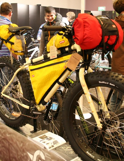 The Genesis Karibou: double butted cro-mo fat bike for all-round trail use and bike safaris