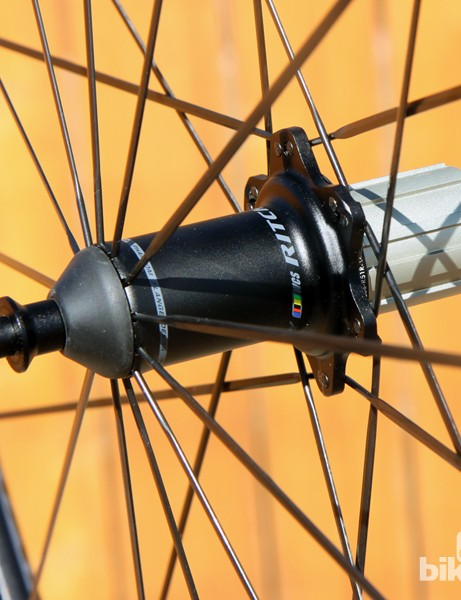 Don't let its looks deceive you; the rear Ritchey Phantom Flange hub uses J-bend spokes on both sides