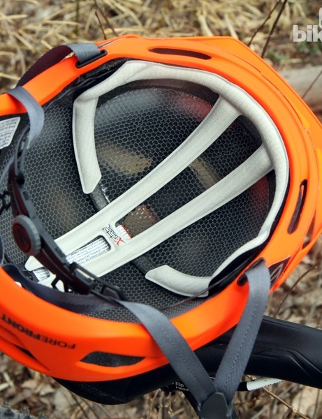 Despite what appears to be minimal padding, the Smith Optics Forefront helmet has so far proved to be very comfortable