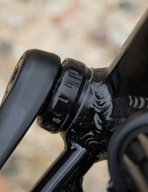 The outboard bearing bottom bracket is a durable addition