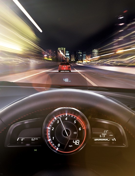 All-new MAzda3 brings Head-up displays into the compact car segment