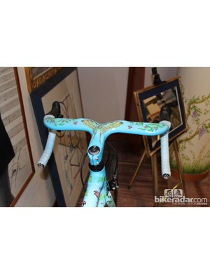 This gift to Mrs Colnago, who lives with Ernesto literally across the street from Colnago headquarters, was handpainted to commemorate their 50th wedding anniversary