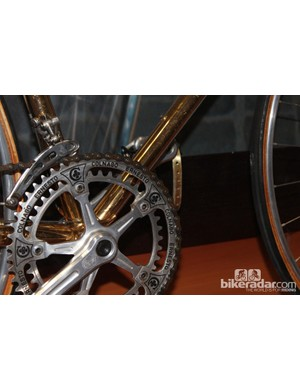Many amateur riders have their names on the top tubes these days. But do you know anyone with self-branded chainrings?